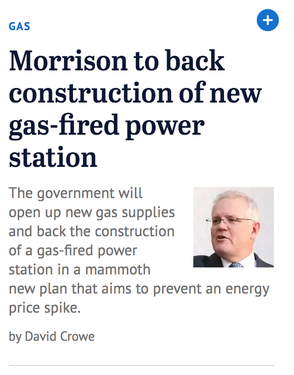 The Age, gas