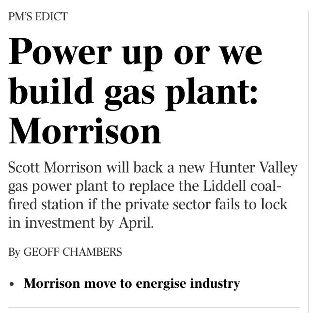 The Australian, gas