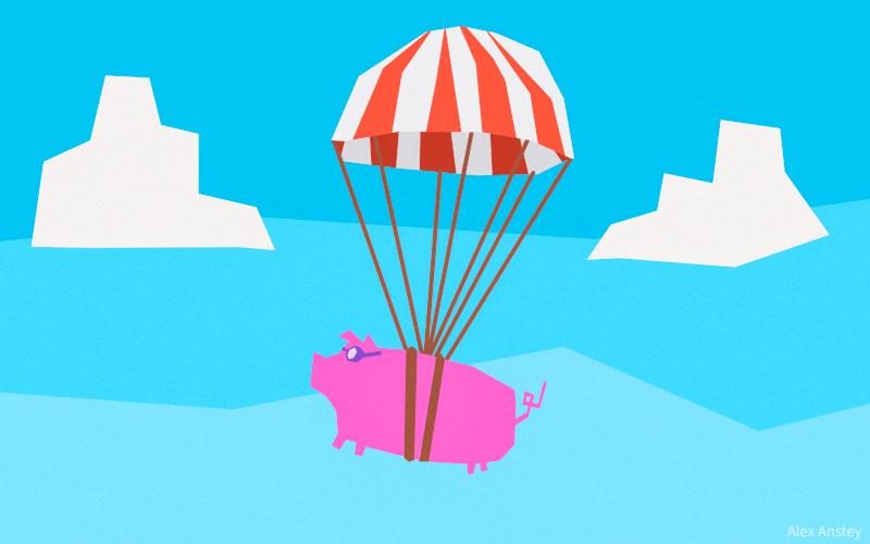 Parachute Piggie