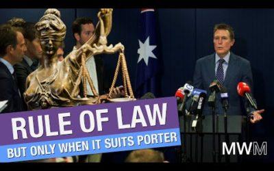 Christian Porter breaks law