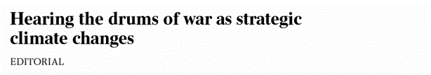 The Australian Hearing the drums of war