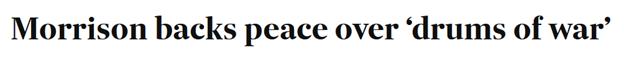 Australian Financial Review Morrison backs peace
