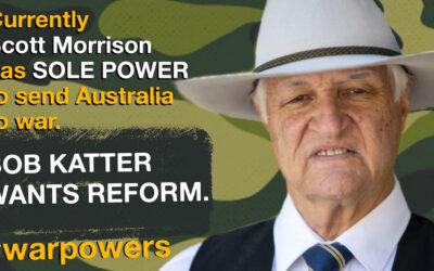 Bob Katter on war powers reform