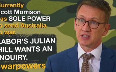 Julian Hill on war powers