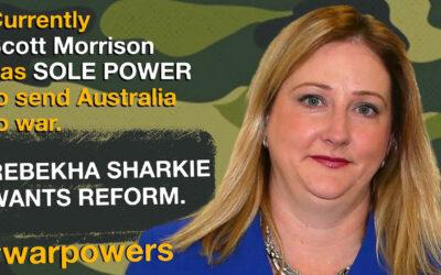 Rebekha Sharkie on war powers reform