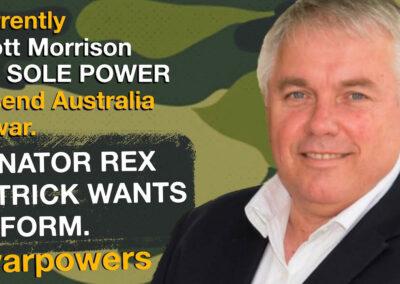 Rex Patrick on war powers reform